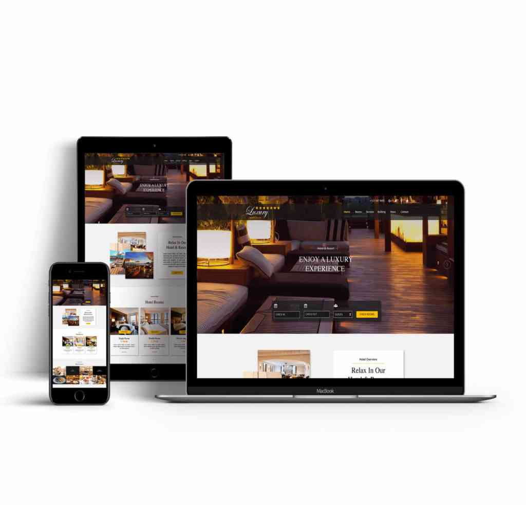 luxury hotel website design