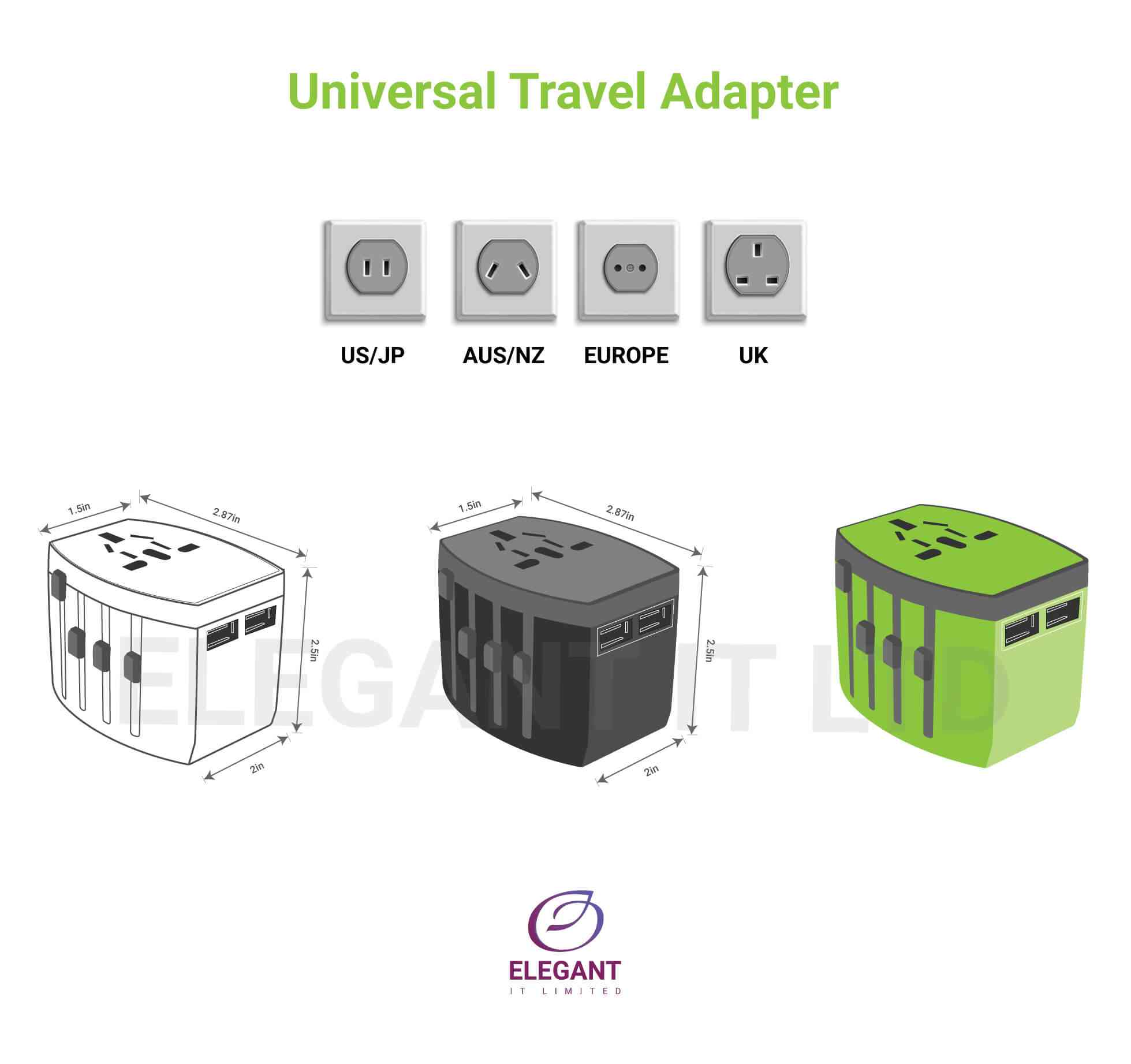 universal travel adapter design