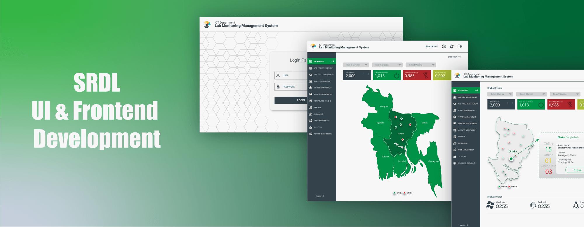 Admin dashboard design DOIT